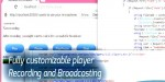 Broadcast audio html5 player & recorder