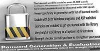 Generation password & evaluation