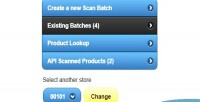 Mobile upc scanner with api proxy web