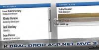 Dragdrop k 3 mvc asp.net