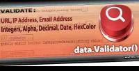 Validation data for .net