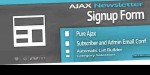 Newsletter signup form with builder list auto newsletter