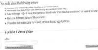 Youtube vimeo url parser loader data and