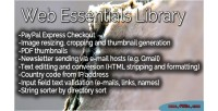 Essentials web library