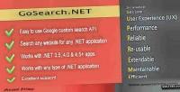 Google goseach.net custom api .net search