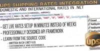 Ups .net shipping framework integration rates