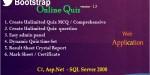 Online bootstrap quiz c asp.net