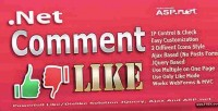 Net comment like asp.net system dislike like