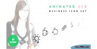 Svg animated set icon business