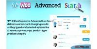 Woocommerce wp search live advanced