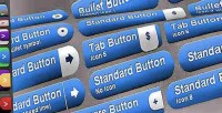 2 fancy buttons css line