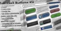 3 css buttons kit