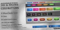 3d animated pack button css3