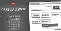 3d css3 buttons