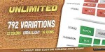 792 unlimited flat buttons css3 multipurpose