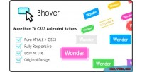 Big bhover collection buttons of animated css3