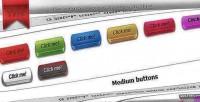 Css3 3digital buttons
