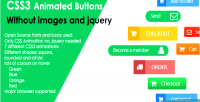 Css3 animated buttons without jquery & images