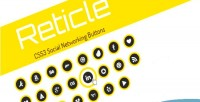Css3 reticle buttons networking social