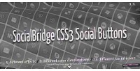 Css3 socialbridge social buttons