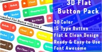 Flat 3d button pack