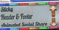 Header sticky footer share social animated