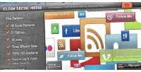 Html5 css3 clean collection media social
