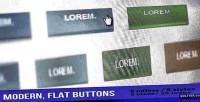 Modern flat buttons