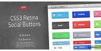 Retina css3 buttons social ready