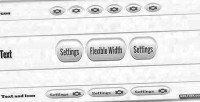 Rounded pressable buttons