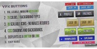 Shape classic button background css3 with