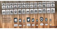 Css3 smooth hover gradient icons networking social