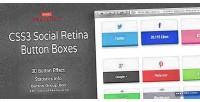 Social css3 boxes button retina