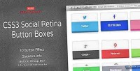 Social css3 boxes button retina