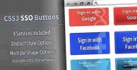 Social css3 buttons on sign