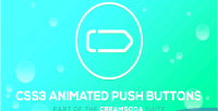 Soda cream css3 buttons push animated