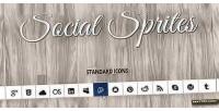 Sprites social icons