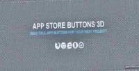 Store app buttons 3d