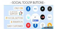 Tooltip social buttons