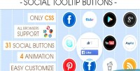 Tooltip social buttons