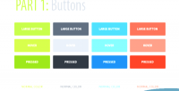 Unique flattened pack button css3