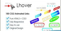 100 lhover buttons animated css3