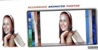 Animated accordion photo slider