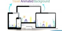 Animated travel background
