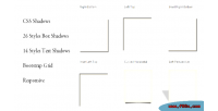Box css shadows text and