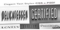 Css elegant type psd styles