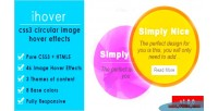 Css3 ihover circular effects hover image