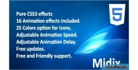 Css3 midix animation jquery without effects