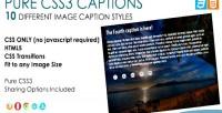Css3 pure captions