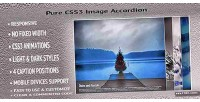 Css3 pure image accordion